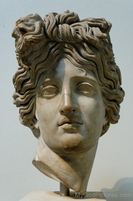 Lord Apollo Head Statue