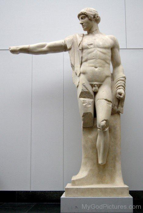 Lord Apollo White Statue