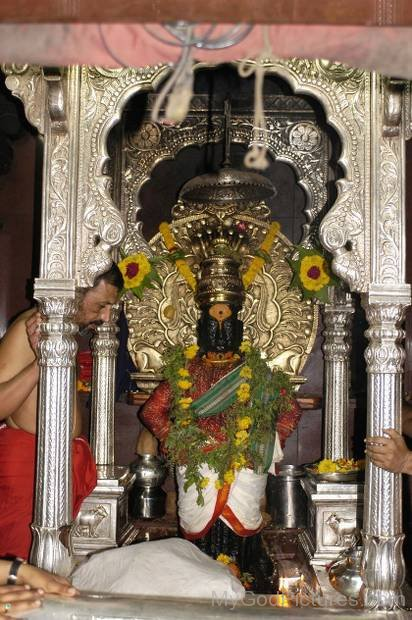 Lord Vithoba Statue In Temple