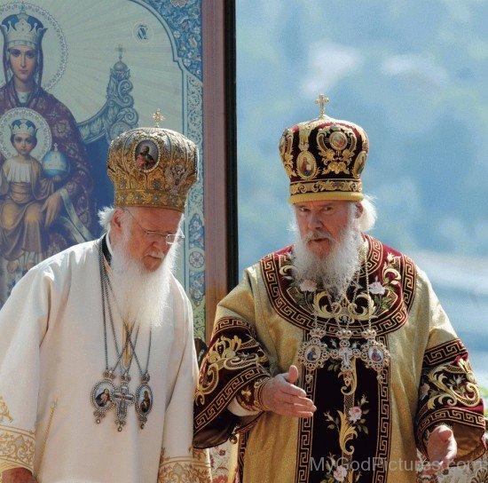 Orthodox Patriarchs Bartholomew I and Alexei II