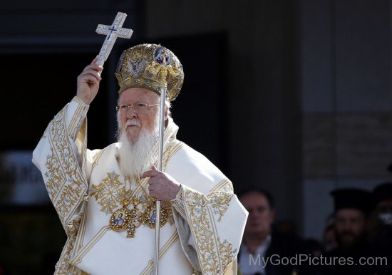 Patriarch Bartholomew I With Cross