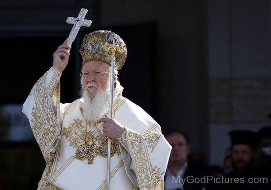 Patriarch Bartholomew I With Cross