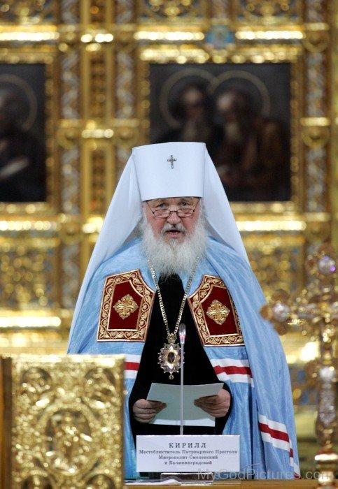 Patriarch Kirill Speaking On Mic