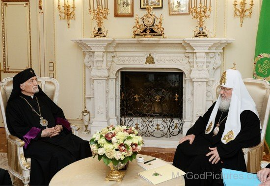 Patriarch Kirill With Head Of Armenian Catholic Church