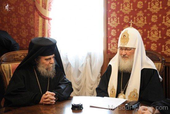 Patriarch Kirill With PatriarchOf Jerusalem