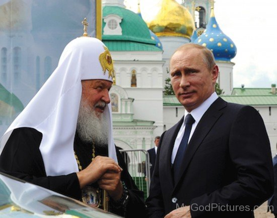 Patriarch Of Moscow Kirill  With Russian President Vladimir Putin