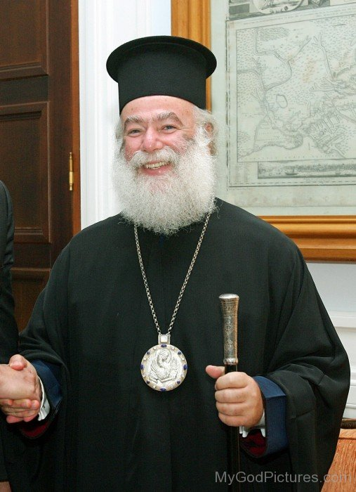 Patriarch Theodore II Smiling