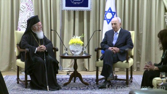 President Peres And Ecumenical Patriarch of Constantinople, Bartholomew I