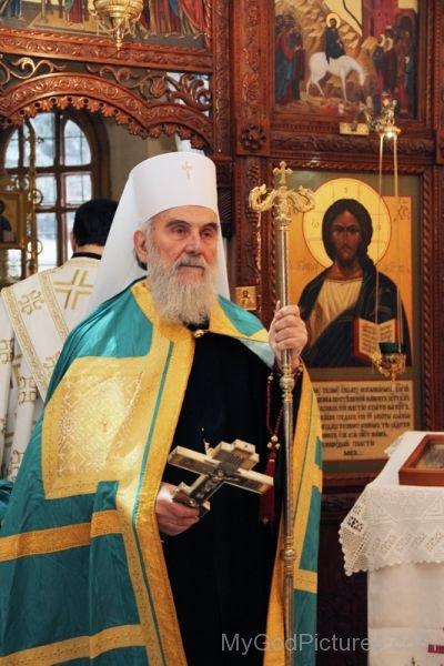 Religious Leader Serbian Patriarch Irinej