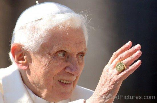 Saint Pope Benedict XVI Closeup