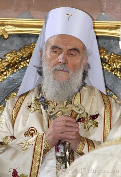 Serbian Patriarch Irinej Image