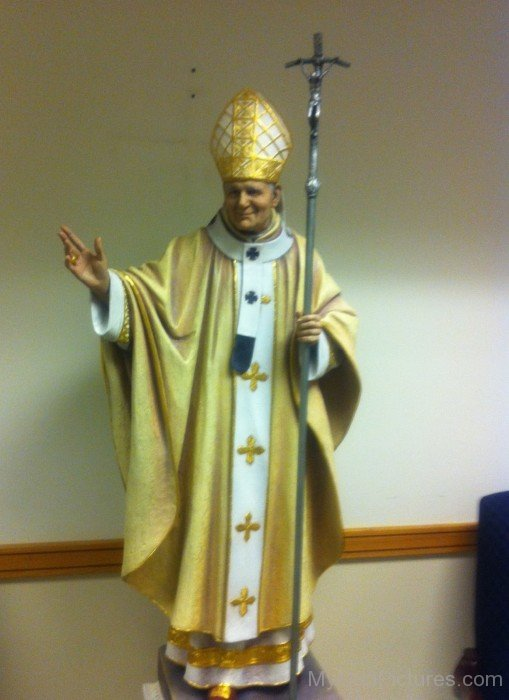 Statue Of Saint Pope John Paul II