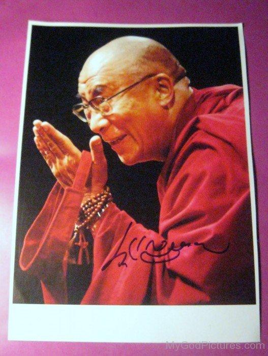 Tenzin Gyatso Autograph