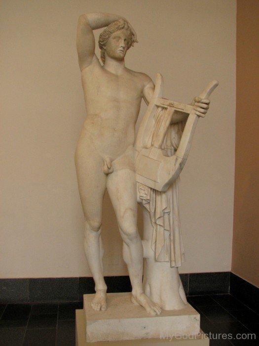 White Satue Of God Apollo