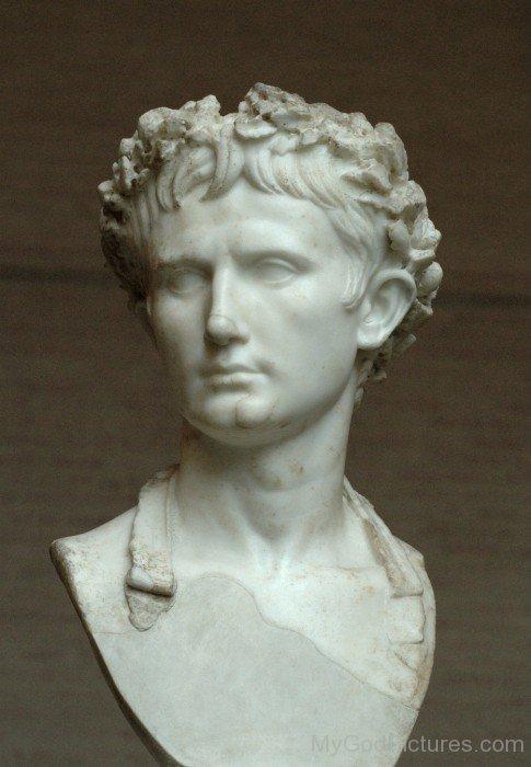 Augustus Face Statue