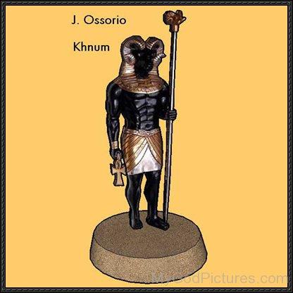 Black Statue Of God Khnum-fg801