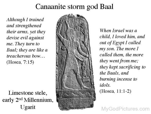 God Baal - God Pictures Baal Canaanite God