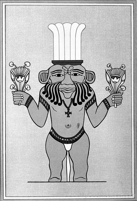 Egyptian Deity God Bes-xz11