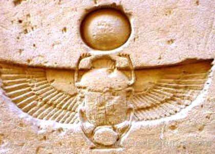 God Khepri Scarab Symbol-lk906