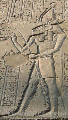 God Khnum Sculpture On Wall-fg803