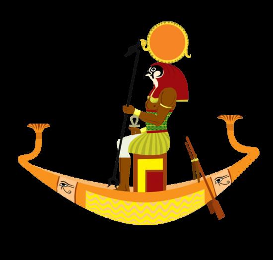 God Ra On Aten Boat-hj56
