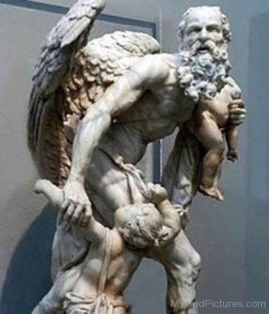 God Saturn Statue