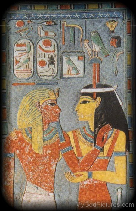 Goddess Amunet And God Amun-asd806