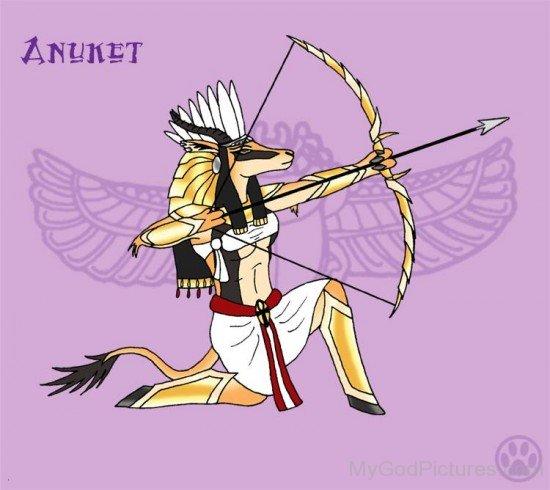 Goddess Anuket Holding Bow-pl92