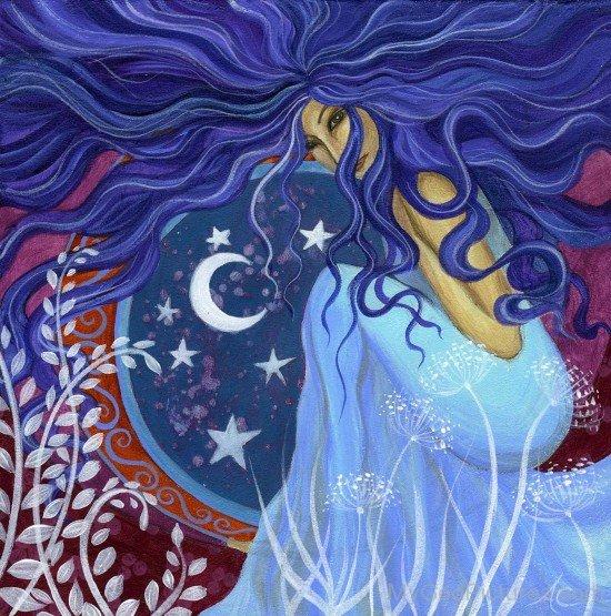Goddess Astarte Painting-po42