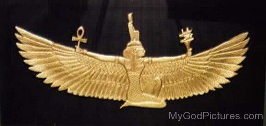 Goddess Isis Golden Statue-jk803