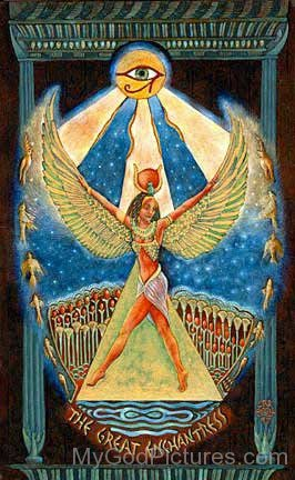 Goddess Isis Painting