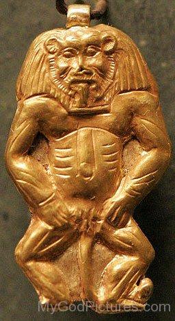 Golden Statue Of Bes-xz16