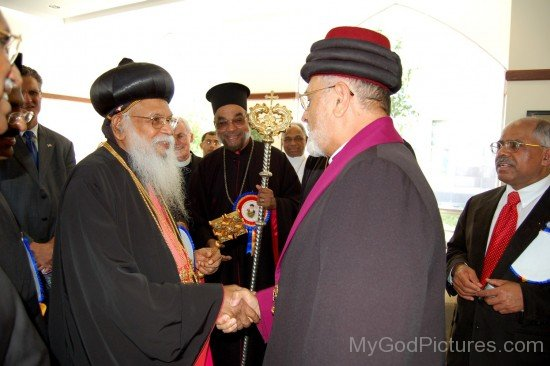 H.H. Mar Dinkha IV meets H.H. Baselios Marthoma Didimos I