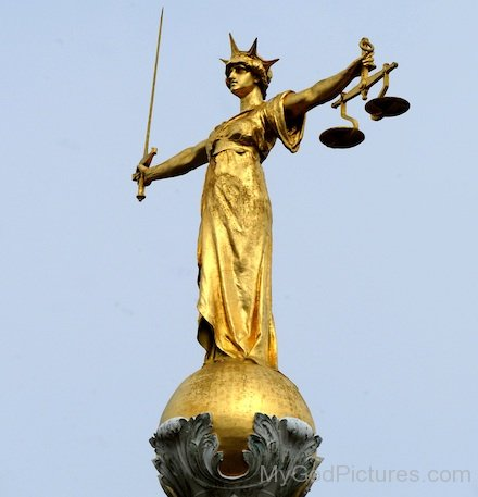 Lady Justice Golden Statue