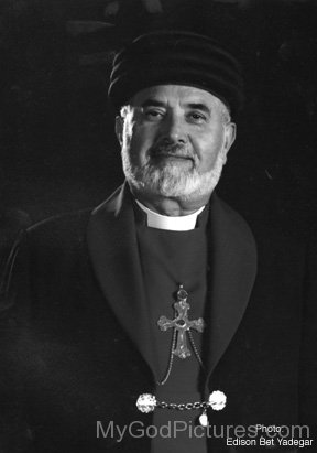 Mar Dinkha IV Black And White Picture
