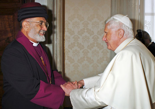 Mar Dinkha IV Meeting Pope Benedict