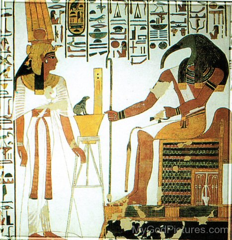 Nefertari,Goddess Heqet And God Thoth-ty207