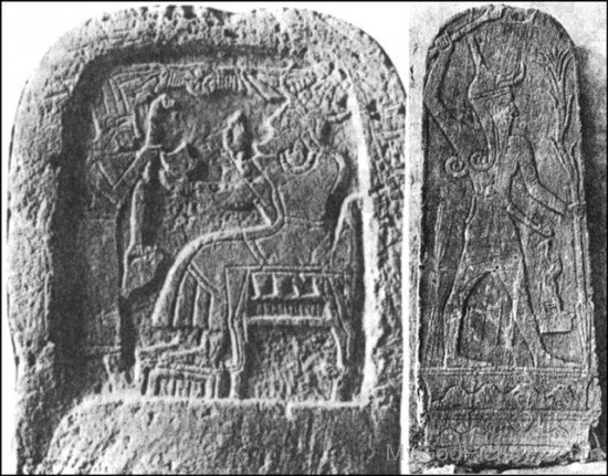 Old Sculpture Of God Baal On Wall-ghy211