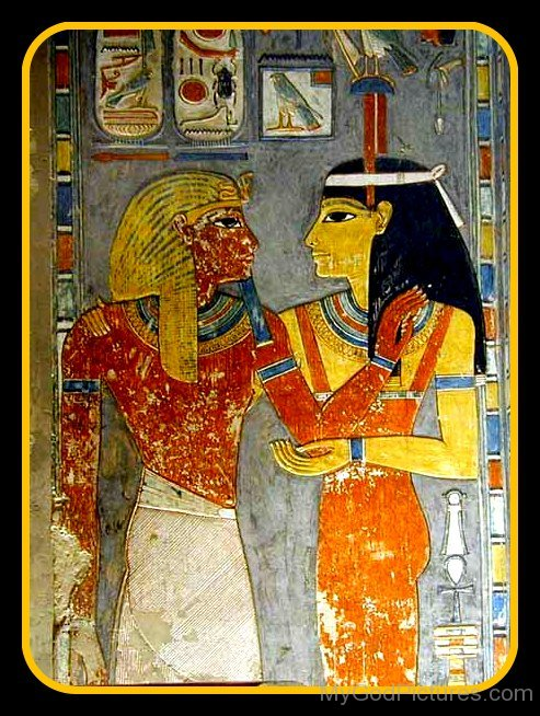 Painting Of God Amun And Goddess Amunet-asd811