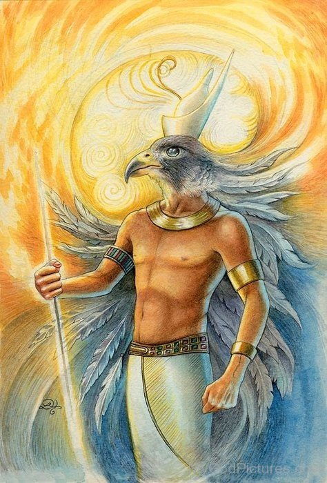 Painting Of God Horus-cb519