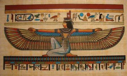 Painting Of Goddess Isis-jk820