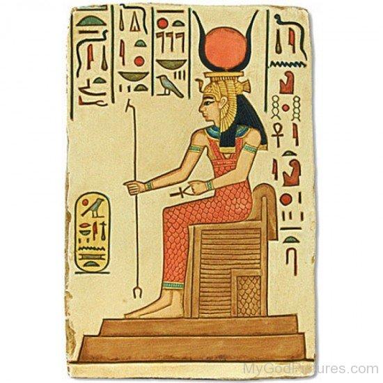 Picture Of Goddess Hathor-jk226