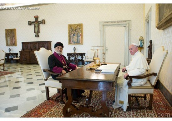 Pope Francis Meetiing With Mar Dinkha IV