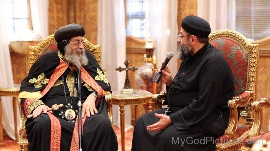 Pope Tawadros II With Fr. Antonios Baky