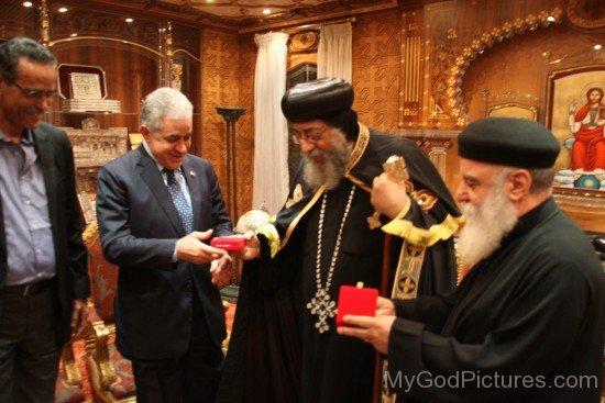 Pope Tawadros II With Hamdeen Sabahi