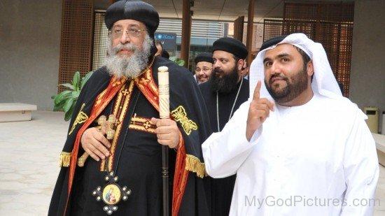 Pope Tawadros II With Yousif Al Ali Masdar