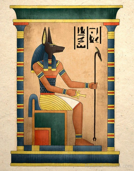 Portrait Of God Anubis-lam725