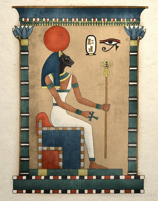 Portrait Of Goddess Bastet-nb412