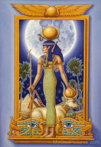 Portrait Of Goddess Hathor-jk228