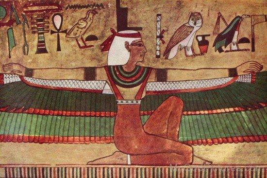 Portrait Of Goddess Isis-jk823